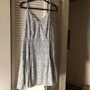The Limited // white dot summer dress